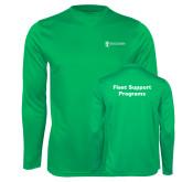 Performance Kelly Green Longsleeve Shirt-Fleet Support Programs