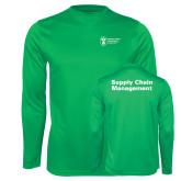 Performance Kelly Green Longsleeve Shirt-Strategic Sourcing
