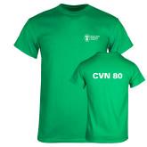 Kelly Green T Shirt-CVN 80 and 81