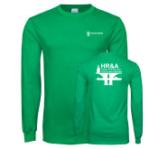 Kelly Green Long Sleeve T Shirt-HR and A