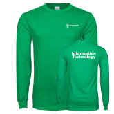 Kelly Green Long Sleeve T Shirt-Information Technology