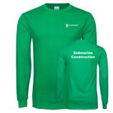 Kelly Green Long Sleeve T Shirt-Submarine Construction