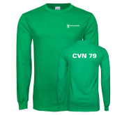 Kelly Green Long Sleeve T Shirt-CVN 79
