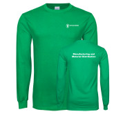 Kelly Green Long Sleeve T Shirt-Manufacturing and Material Distribution