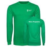 Kelly Green Long Sleeve T Shirt-Navy Programs