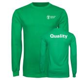 Kelly Green Long Sleeve T Shirt-Quality