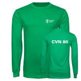 Kelly Green Long Sleeve T Shirt-CVN 80 and 81