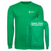 Kelly Green Long Sleeve T Shirt-Strategic Sourcing