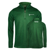 Russell Dark Green Heather 1/4 Zip-Information Technology