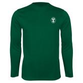 Performance Dark Green Longsleeve Shirt-Icon