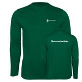 Performance Dark Green Longsleeve Shirt-Comms