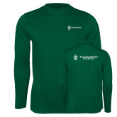 Performance Dark Green Longsleeve Shirt-Business Management