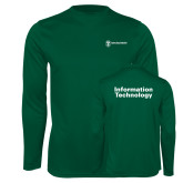 Performance Dark Green Longsleeve Shirt-Information Technology
