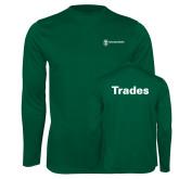 Performance Dark Green Longsleeve Shirt-Trades