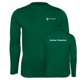 Performance Dark Green Longsleeve Shirt-Nuclear Propulsion