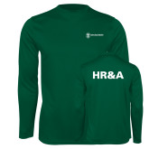 Performance Dark Green Longsleeve Shirt-HR and A