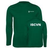 Performance Dark Green Longsleeve Shirt-ISCVN