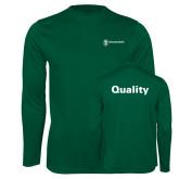 Performance Dark Green Longsleeve Shirt-Quality