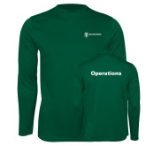 Performance Dark Green Longsleeve Shirt-Operations