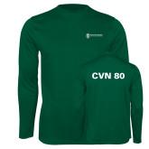 Performance Dark Green Longsleeve Shirt-CVN 80 and 81