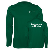 Performance Dark Green Longsleeve Shirt-Engineering and Design