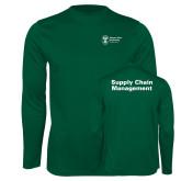 Performance Dark Green Longsleeve Shirt-Strategic Sourcing