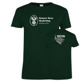 Ladies Dark Green T Shirt-ISCVN