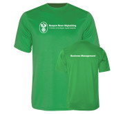 Performance Kelly Green Tee-Business Management