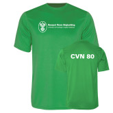 Performance Kelly Green Tee-CVN 80 and 81