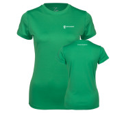 Ladies Syntrel Performance Kelly Green Tee-Business Management