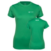 Ladies Syntrel Performance Kelly Green Tee-ISCVN