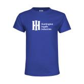 Youth Royal T Shirt-Huntington Ingalls Industries