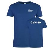 Ladies Royal T Shirt-CVN 80 and 81