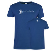 Ladies Royal T Shirt-Newport News Shipbuilding