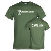Military Green T Shirt-CVN 80 and 81