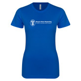 Next Level Ladies SoftStyle Junior Fitted Royal Tee-Newport News Shipbuilding