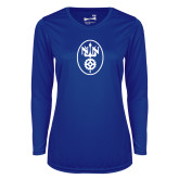 Ladies Syntrel Performance Royal Longsleeve Shirt-Icon