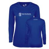Ladies Syntrel Performance Royal Longsleeve Shirt-Navy Programs