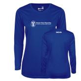 Ladies Syntrel Performance Royal Longsleeve Shirt-ISCVN