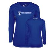 Ladies Syntrel Performance Royal Longsleeve Shirt-CVN 80 and 81