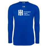 Under Armour Royal Long Sleeve Tech Tee-Huntington Ingalls Industries
