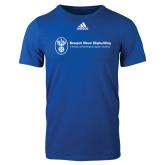 Adidas Royal Logo T Shirt-Newport News Shipbuilding