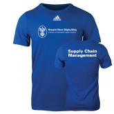 Adidas Royal Logo T Shirt-Strategic Sourcing