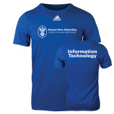 Adidas Royal Logo T Shirt-Information Technology