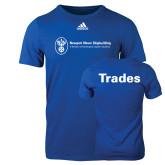 Adidas Royal Logo T Shirt-Trades