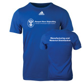 Adidas Royal Logo T Shirt-Manufacturing and Material Distribution