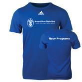 Adidas Royal Logo T Shirt-Navy Programs