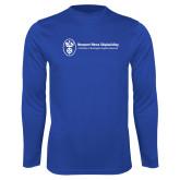 Performance Royal Longsleeve Shirt-Newport News Shipbuilding