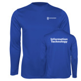 Performance Royal Longsleeve Shirt-Information Technology
