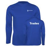 Performance Royal Longsleeve Shirt-Trades
